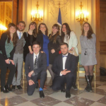 Les étudiants de la French Debating Association à la finale à l'assemblée nationale