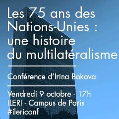Conférence inaugurale d'Irina Bokova, ancienne Directrice de l'UNESCO