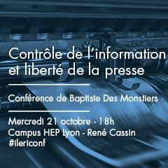 Contrôle de l'information et liberté de la presse – Conférence