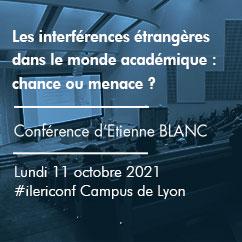 Les interférences étrangères dans le monde académique. Une chance ou une menace ? | Conférence